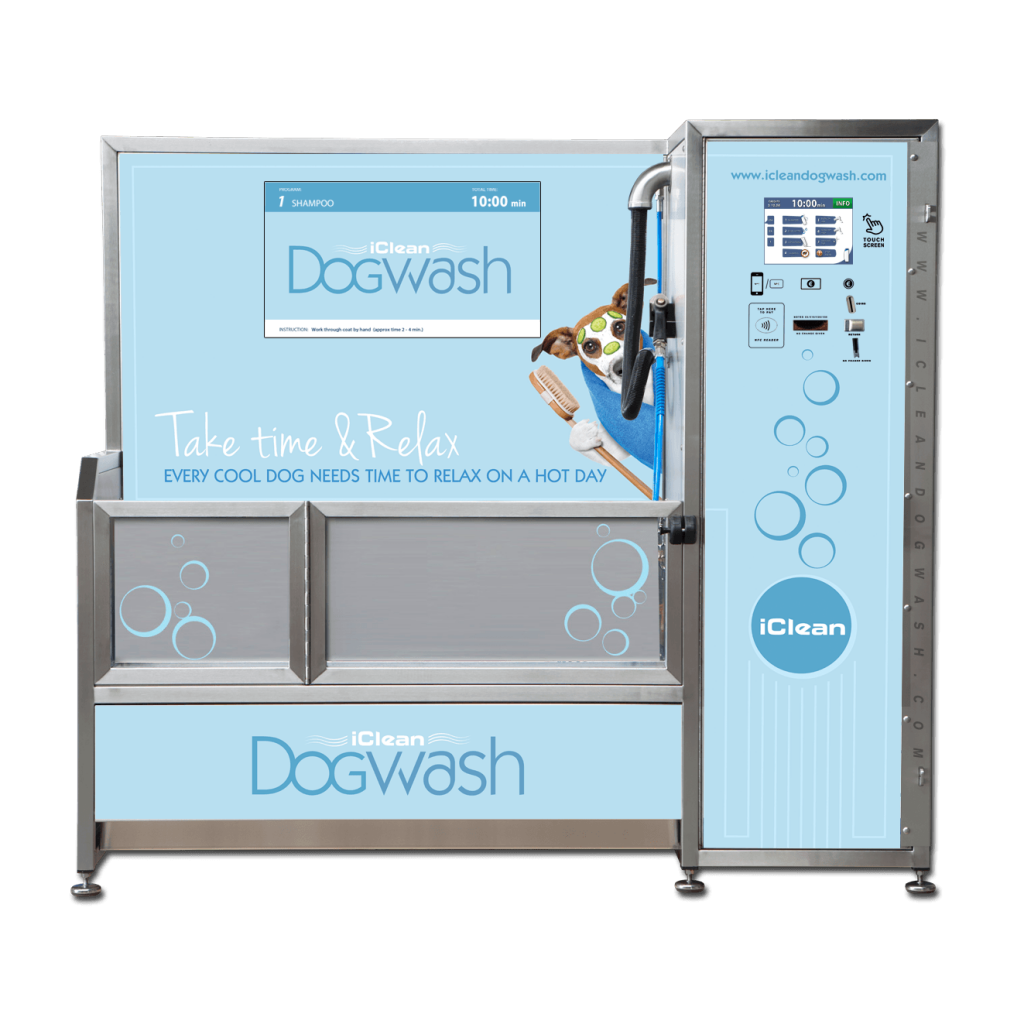 Visuel personnalisation Iclean Dogwash - Take time and relax